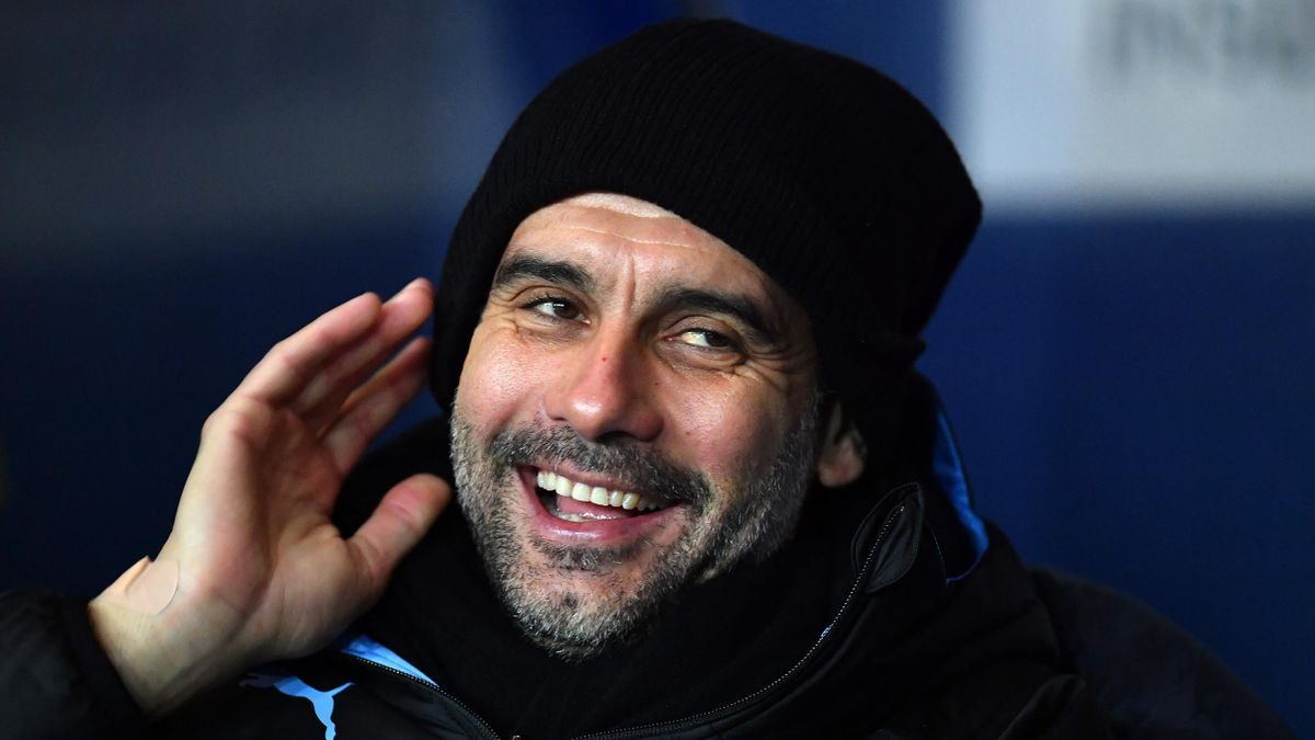 Pep Guardiola, managerul lui Manchester City