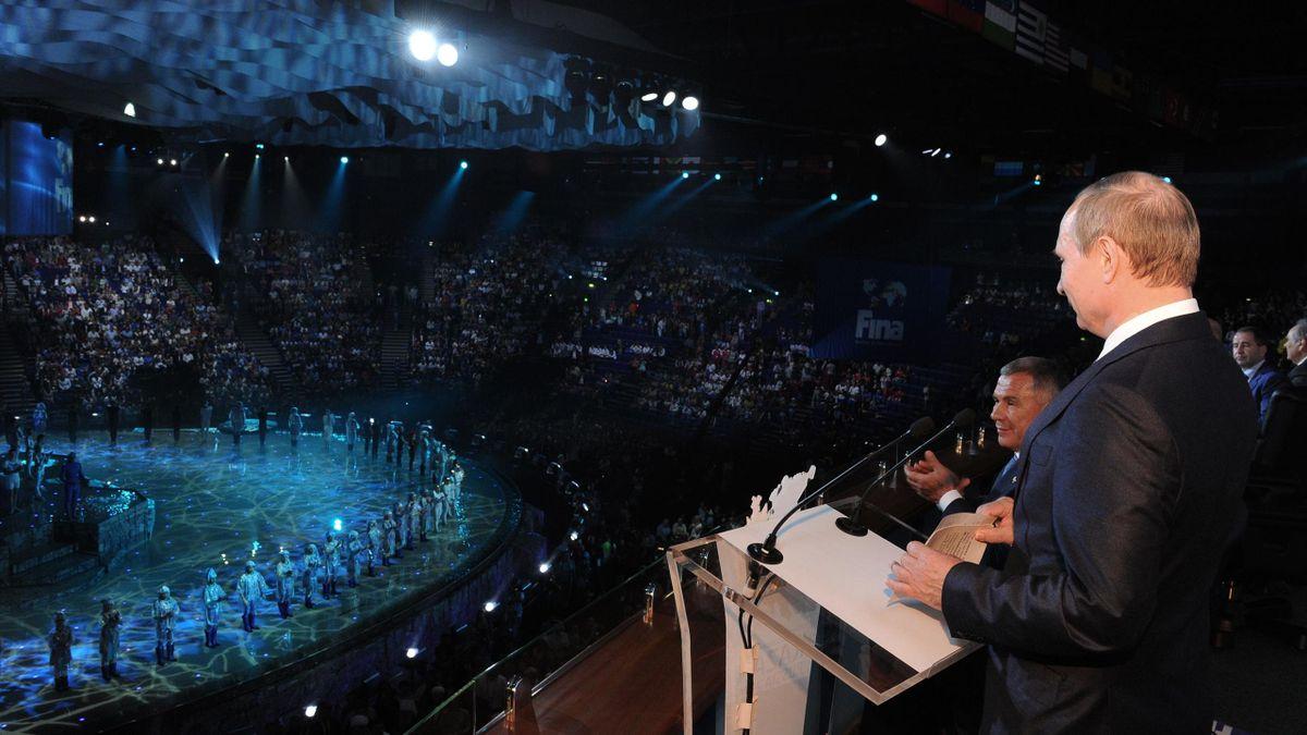 Чемпионат мира по водным видам спорта-2015 в Казани, Владимир Путин