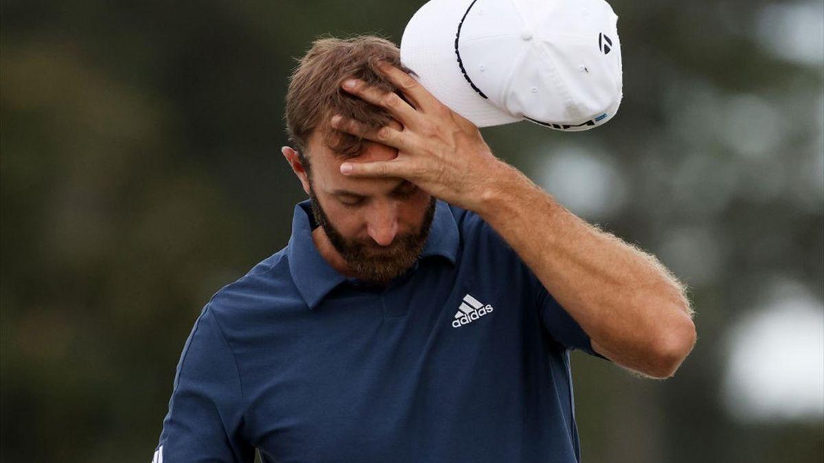 Dustin Johnson après son élimination au 2e tour au Masters d'Augusta 2021