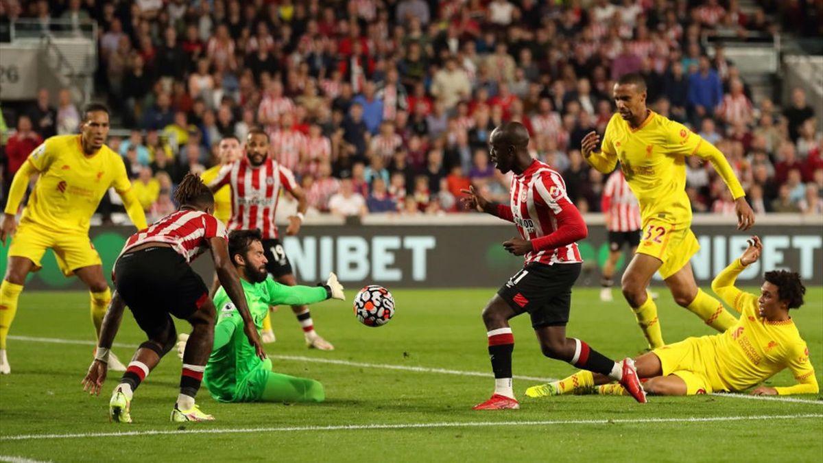 Wissa segna il gol del pareggio in Brentford-Liverpool - Premier League 2021/2022