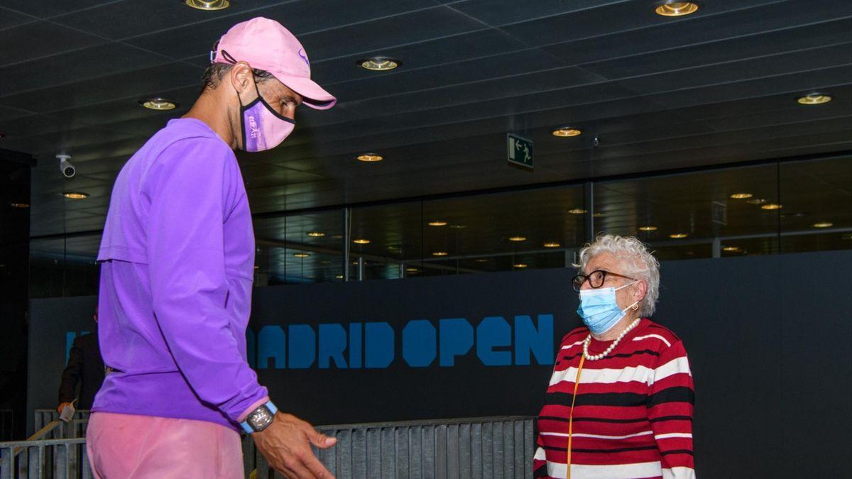 Rafa Nadal and a big fan - Mutua Madrid Open 2021