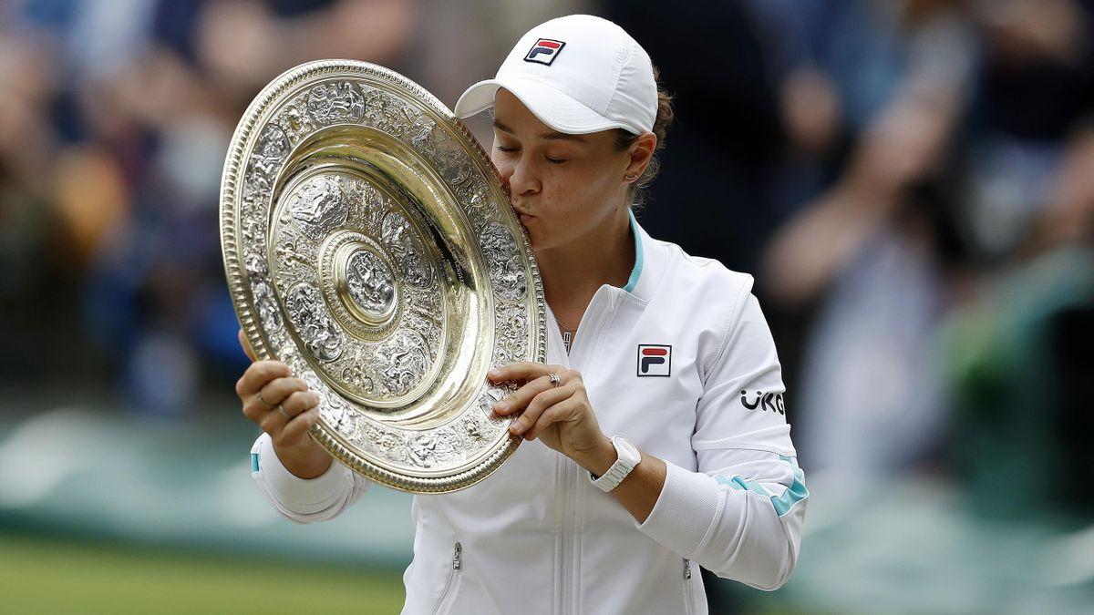 Ashleigh Barty gewinnt ihren ersten Wimbledon-Titel