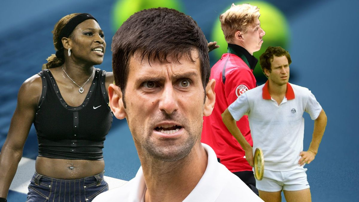 Tennis stars who got disqualified: Serena Williams, Novak Djokovic, Denis Shapovalov and John McEnroe