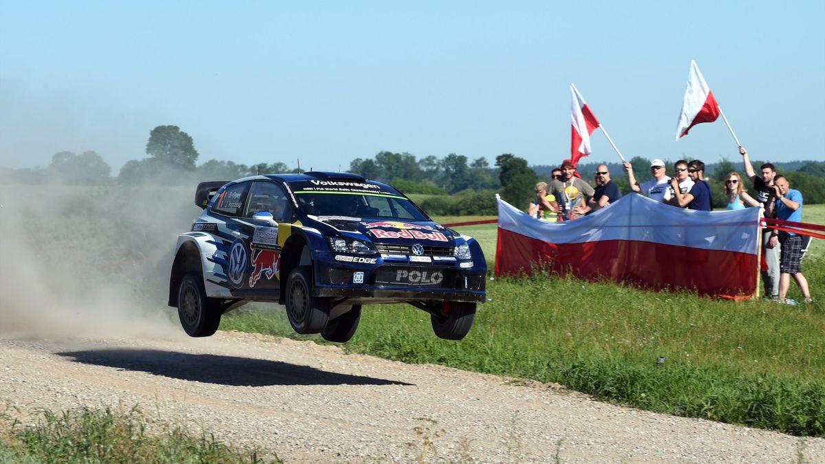 Sébastien Ogier (VV Polo-R) sur le rallye de Pologne