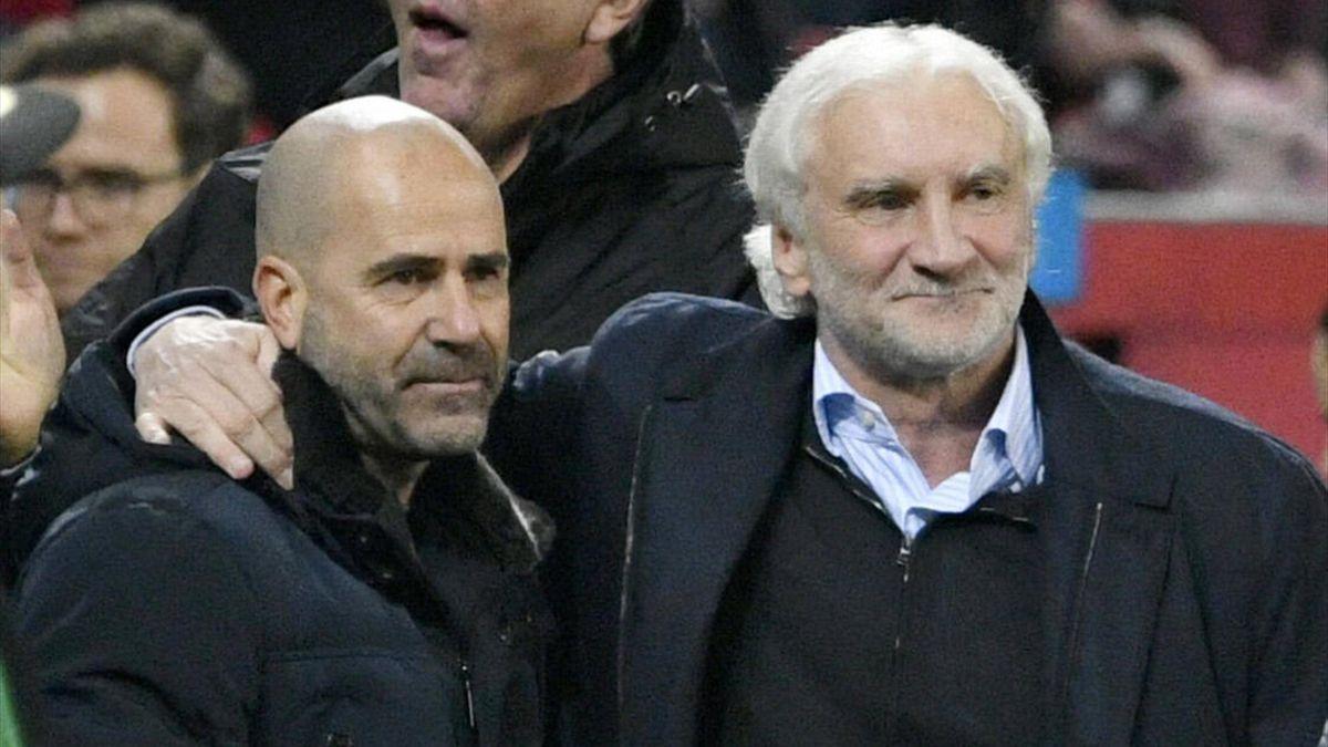 Peter Bosz (links) und Rudi Völler - Bayer Leverkusen