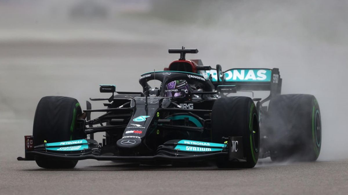 Lewis Hamilton (Mercedes) au Grand Prix de Russie 2021