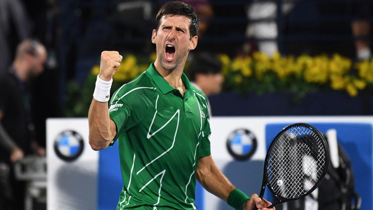 Novak Djokovic, vainqueur à Dubaï.