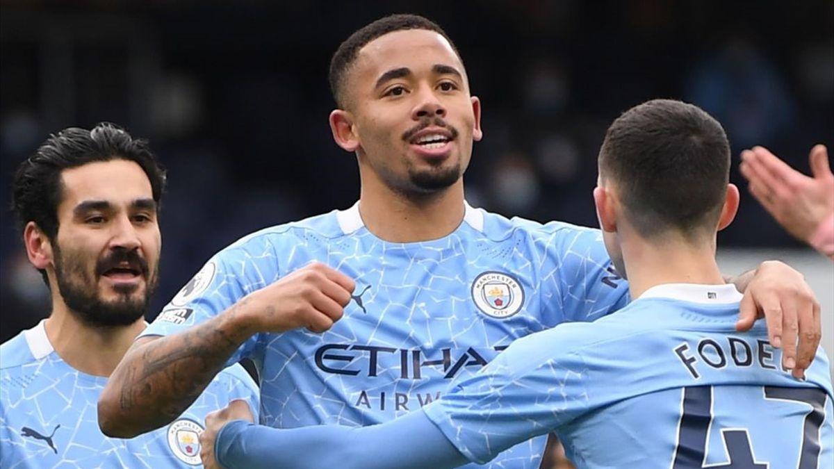 Gabriel Jesus auteur du but de la victoire de Manchester City contre Sheffield United en Premier League le 30 janvier 2021