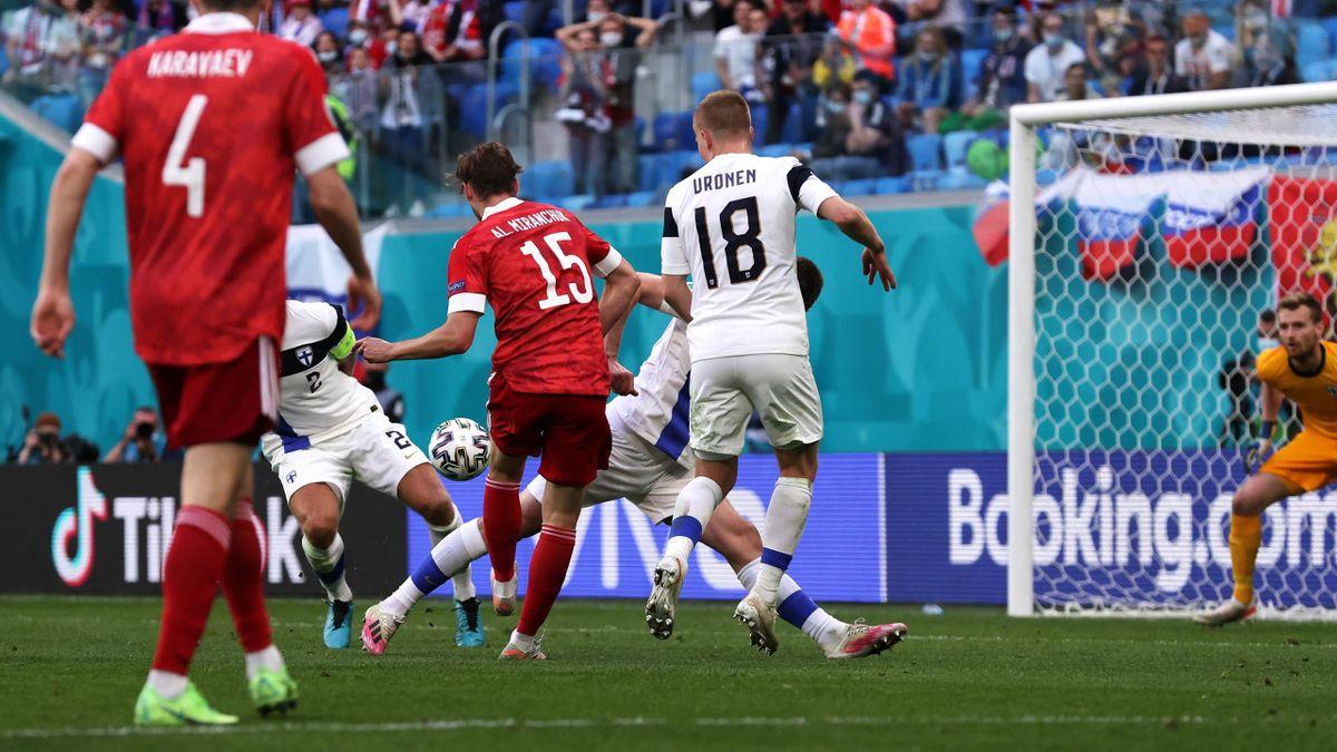 Alexej Mirantschuk trifft zum 1:0 - Finnland vs. Russland