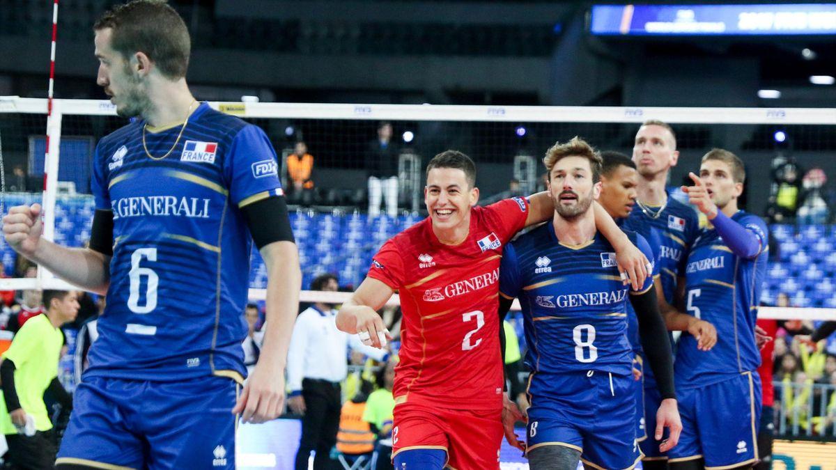 Les Bleus heureux après leur succès contre les Etats-Unis lors du Final Six de la Ligue mondiale