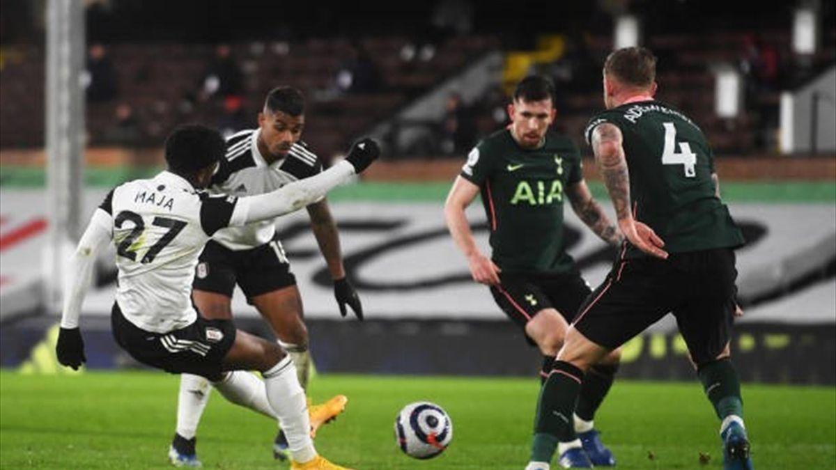Imagine din meciul Fulahm-Tottenham 0-1 (04.03.2021)