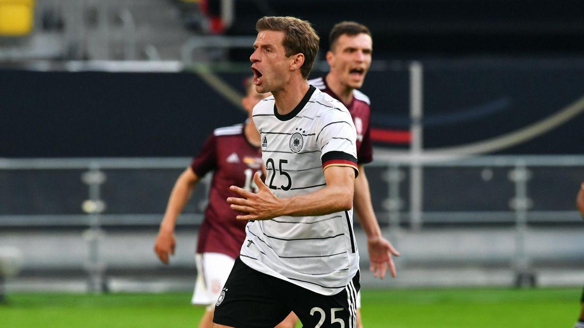 Thomas Müller im Spiel gegen Lettland