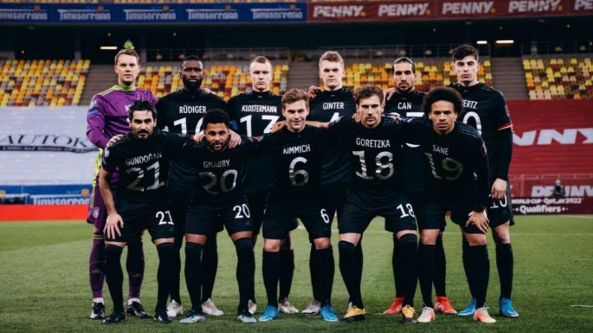 Das DFB-Team setzte in Rumänien ein Zeichen für Menschenrechte