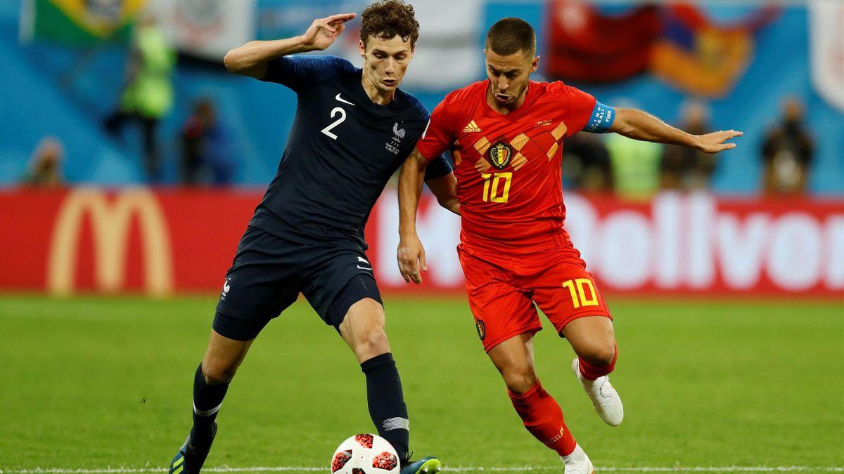 Pavard - Hazard lors de France - Belgique