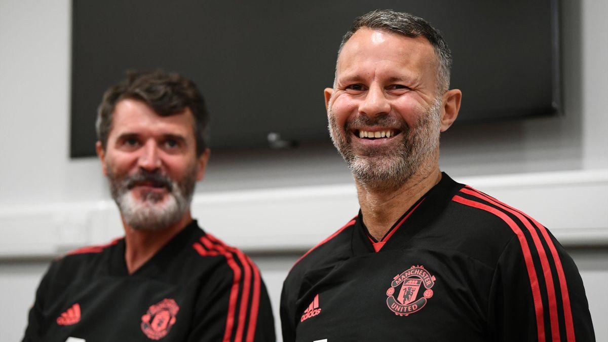 Легенды «Манчестер Юнайтед» Рой Кин и Райан Гиггз