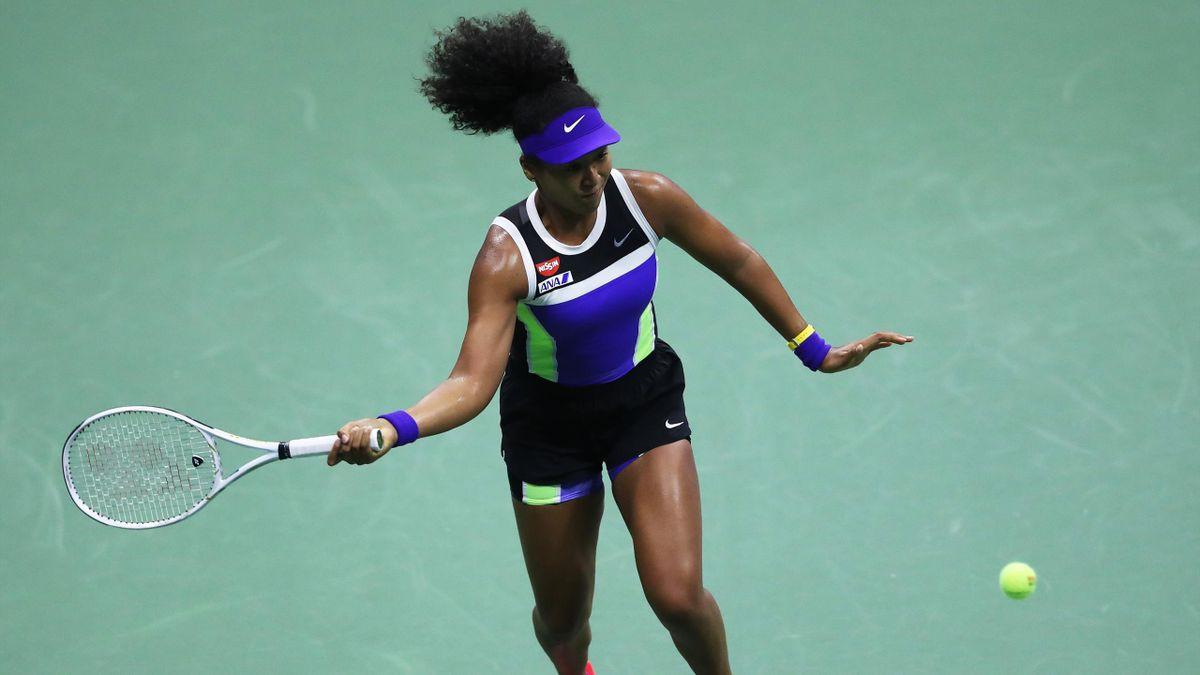 Naomi Osaka lors de son 1er tour de l'US Open en 2020
