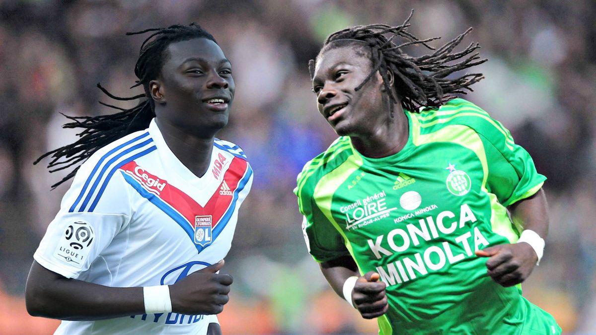 Bafétimbi Gomis, un des joueurs à avoir porté les couleurs de Lyon et de Saint-Etienne.