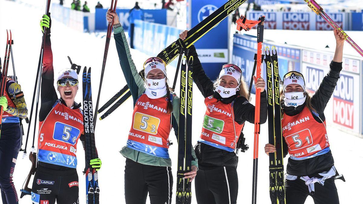 Marte Olsbu Røiseland, Ida Lien, Tiril Eckhoff og Ingrid Landmark Tandrevold