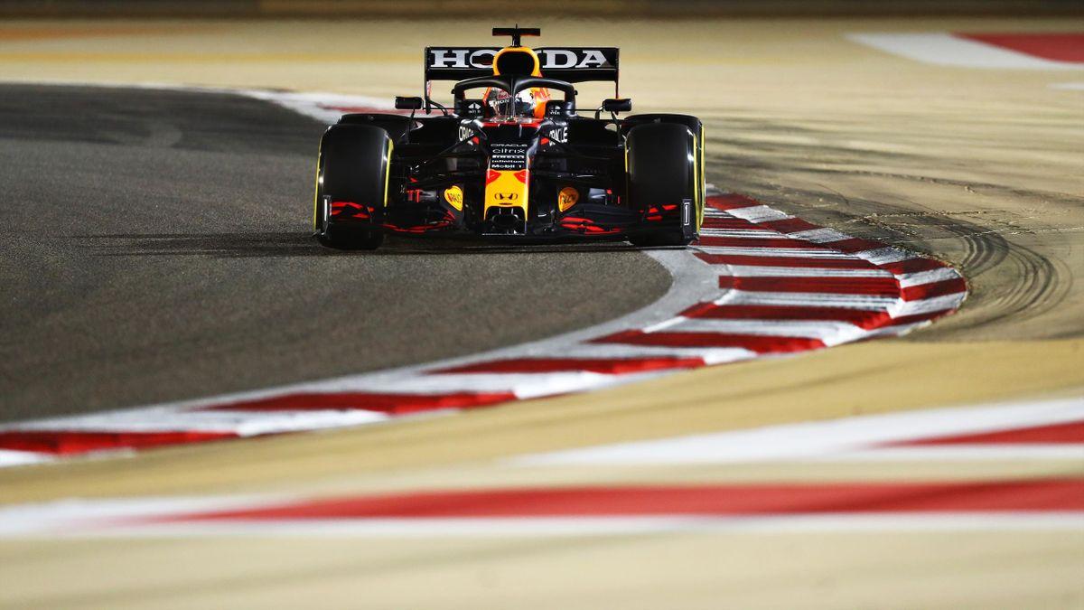 Max Verstappen (Red Bull Honda) lors de la qualification du Grand Prix de Bahreïn 2021