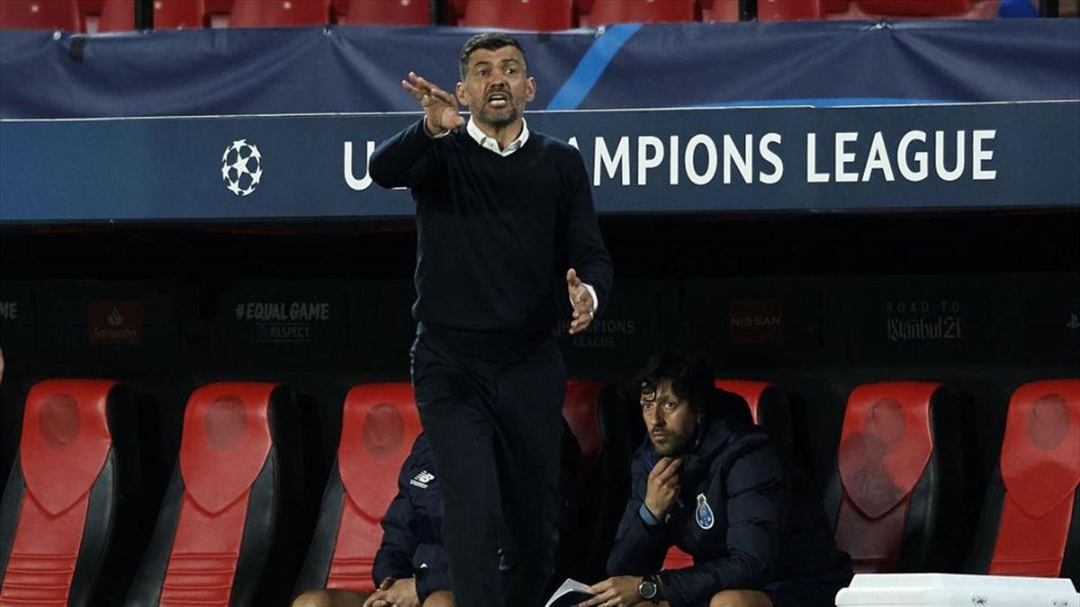 Sergio Conceiçao sulla panchina del Porto - Champions League 2020-21