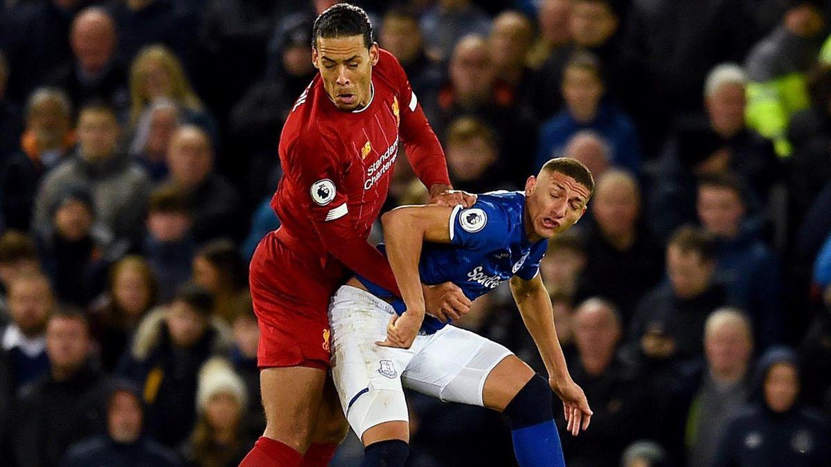 Richarlison l-a provocat pe Van Dijk înainte de Everton - Liverpool