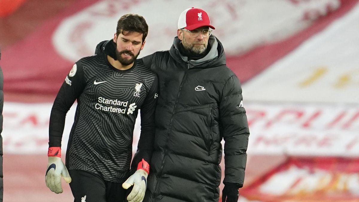 Alisson Becker und Jürgen Klopp vom FC Liverpool