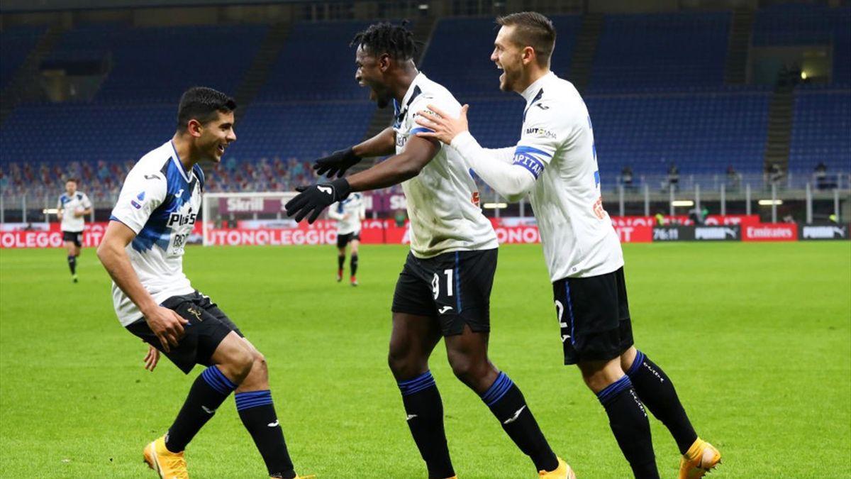 Zapata - Milan-Atalanta - Serie A 2020/2021 - Getty Images