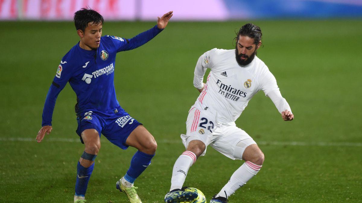 Take Kubo, Isco Alarcón (Real Madrid - Getafe CF)