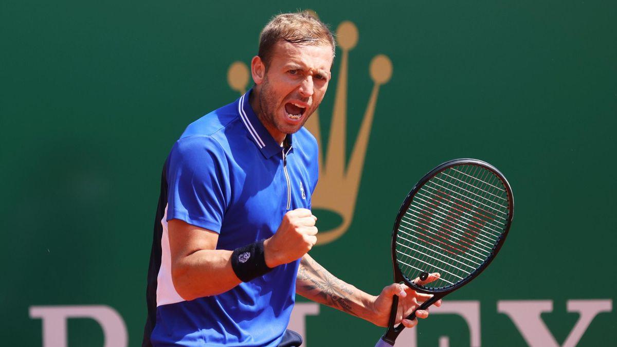 Daniel Evans à Monte-Carlo en 2021