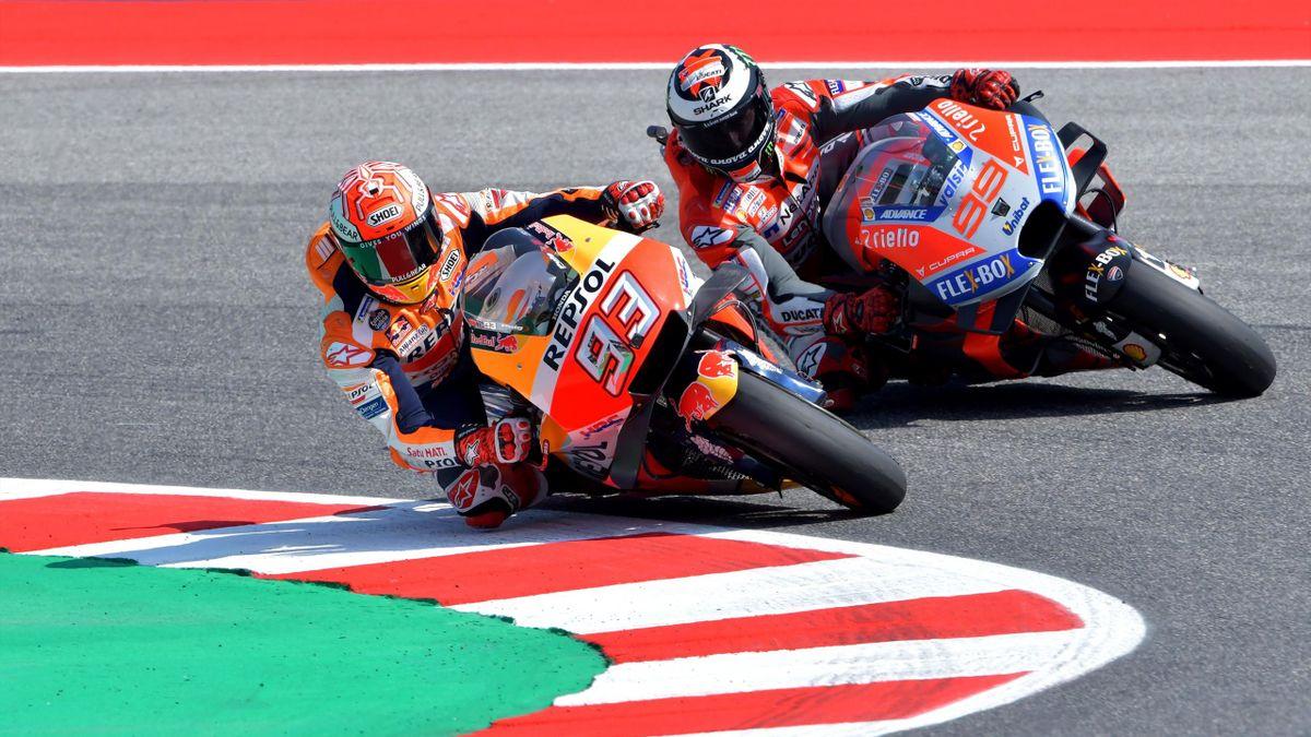 Marc Marquez (Honda HRC), Jorge Lorenzo (Ducati Team) - GP of San Marino 2018