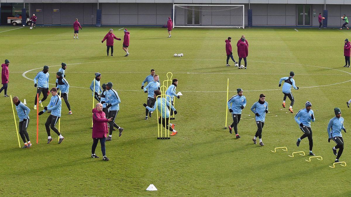 L'entraînement de Manchester City
