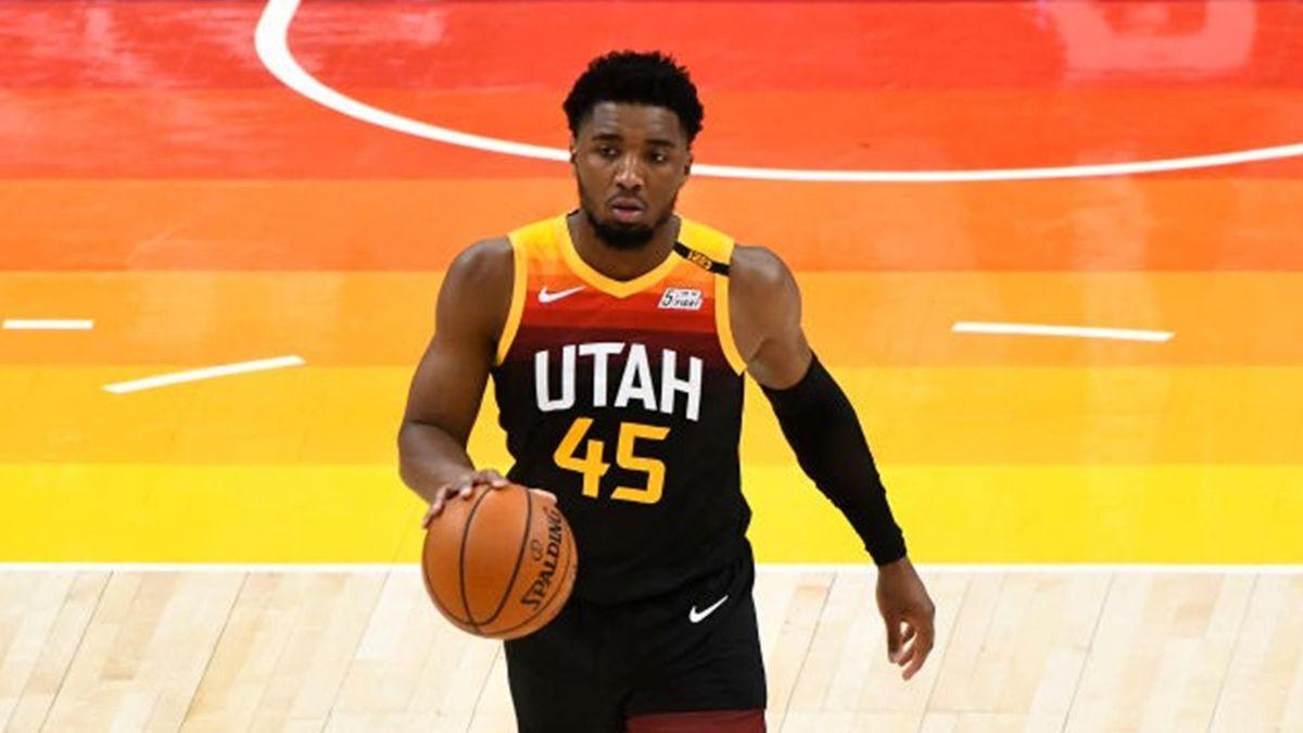 Donovan Mitchell avec Utah Jazz contre Chicago en NBA le 2 avril 2021