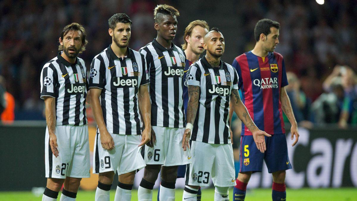 Pirlo, Pogba e Vidal (oltre a Morata): 3/4 dello stellare centrocampo bianconero che insieme a Marchisio portarono la Juventus in finale di Champions