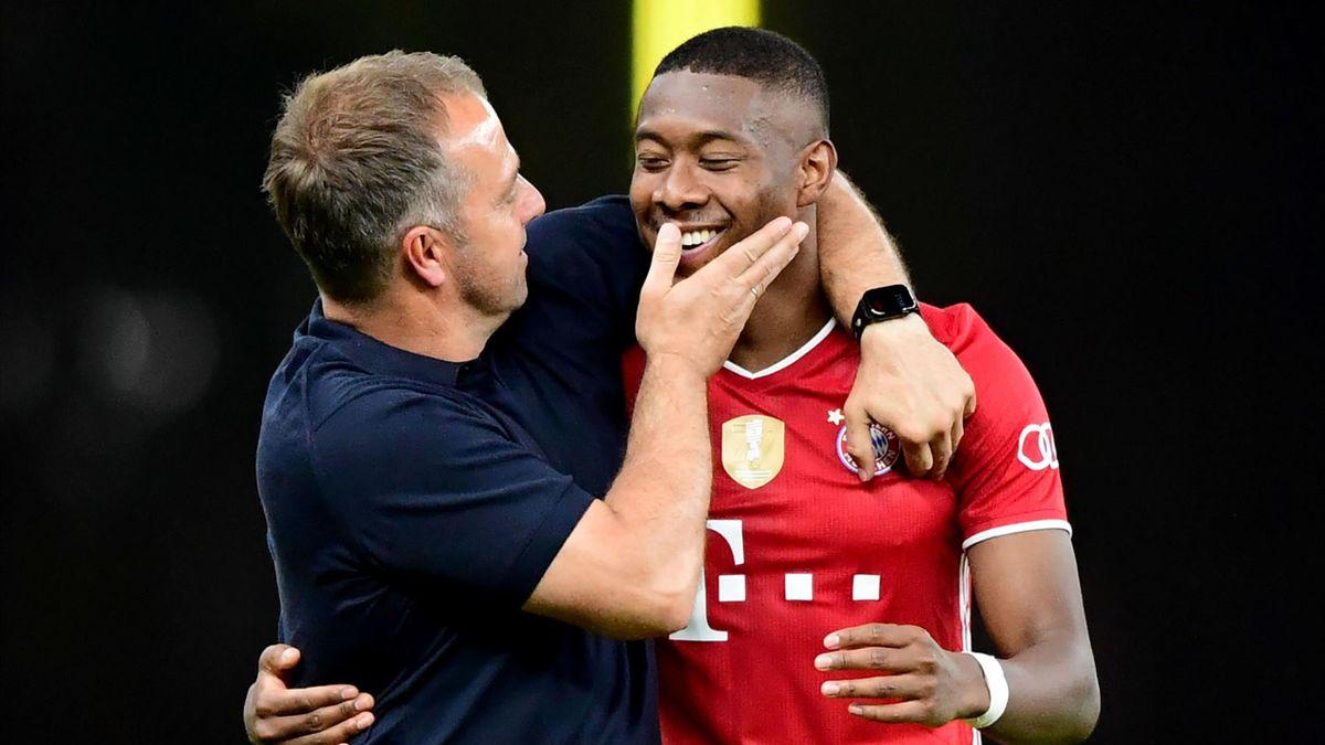 Hansi Flick (links) und David Alaba (rechts) | FC Bayern München