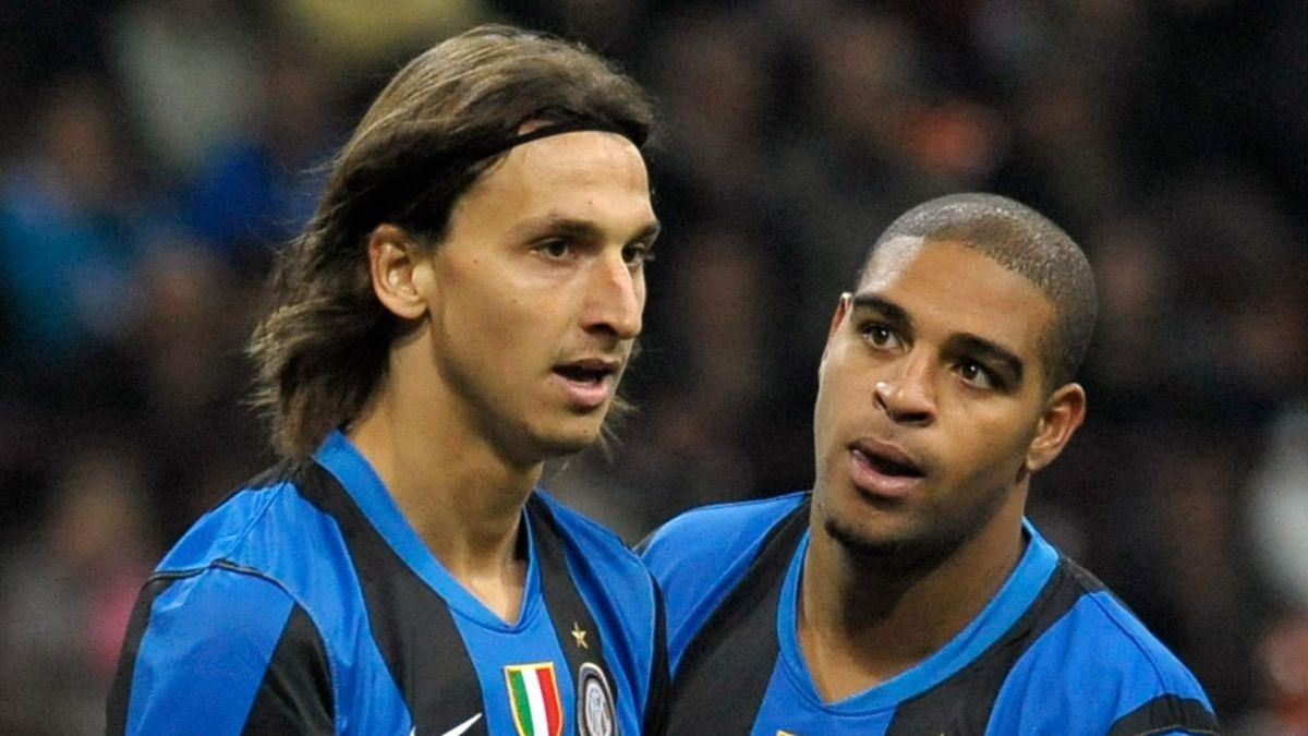 Zlatan Ibrahimovic Adriano Inter 2009