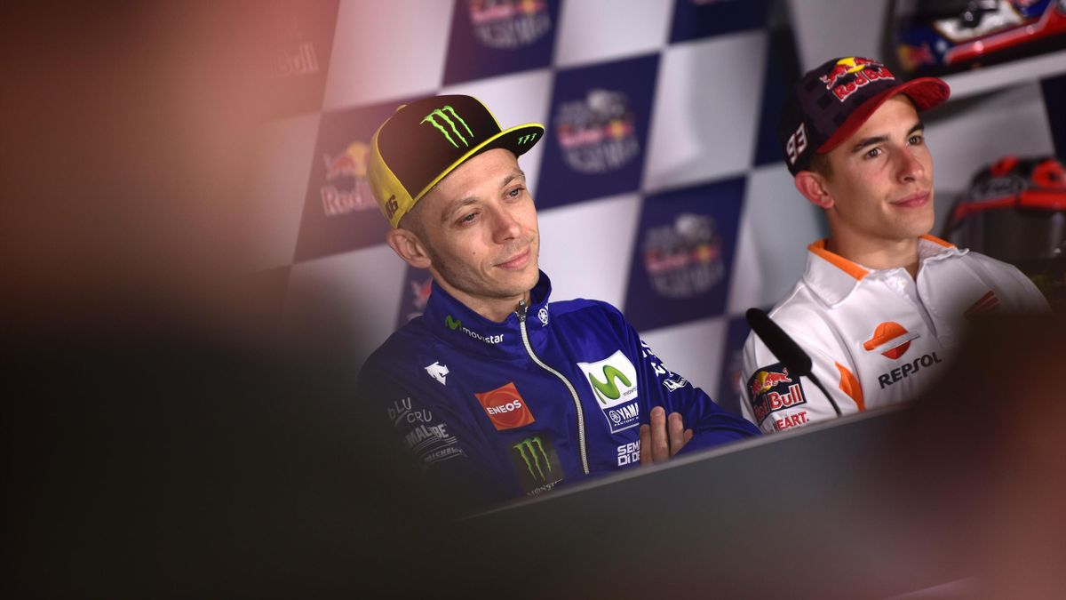 Valentino Rossi, Marc Marquez, conferenza stampa, MotoGP, Getty Images
