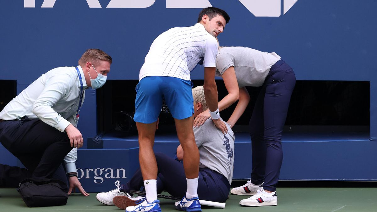 Novak Djokovic was disqualified for hitting a line judge with a ball during the US Open