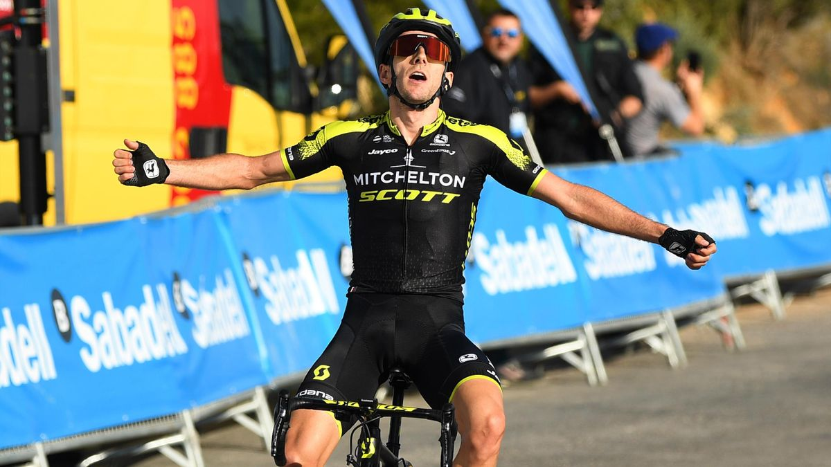 Adam Yates of Great Britain and Team Mitchelton - Scott / Celebration / during the 70th Volta a la Comunitat Valenciana 2019 - Stage 4.