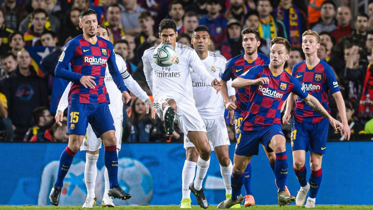 Barcelona Real Madrid Varane