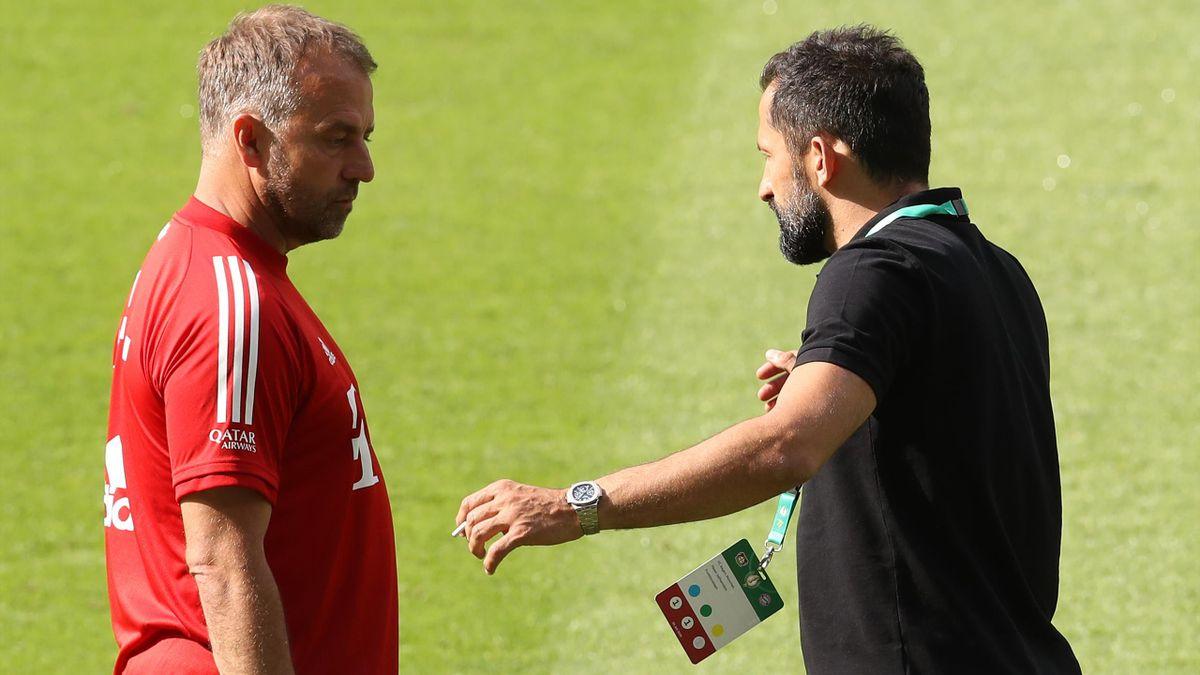 Hansi Flick (li.) und Hasan Salihamidzic