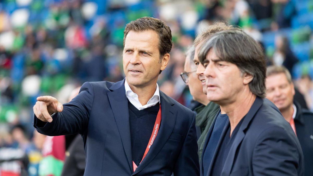 Oliver Bierhoff (links) und Jogi Löw
