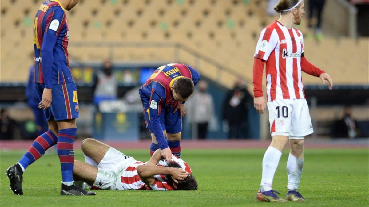 Lionel Messi și Asier Villalibre, în finala Supercupei Spaniei