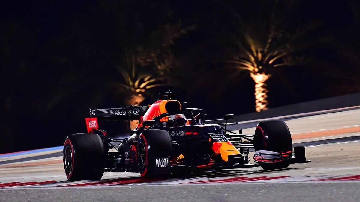 Red-Bull-Pilot Max Verstappen im Training in Bahrain