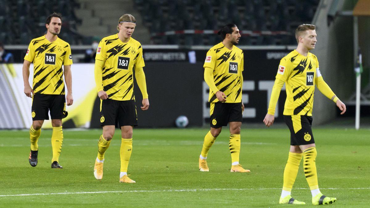 Mats Hummels, Erling Haaland, Emre Can und Marco Reus vom BVB