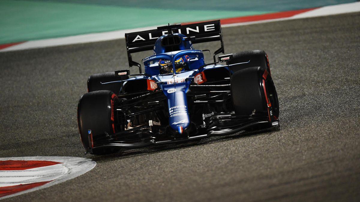 Fernando Alonso en su primera carrera con Alpine en el Gran Premio de Bahréin