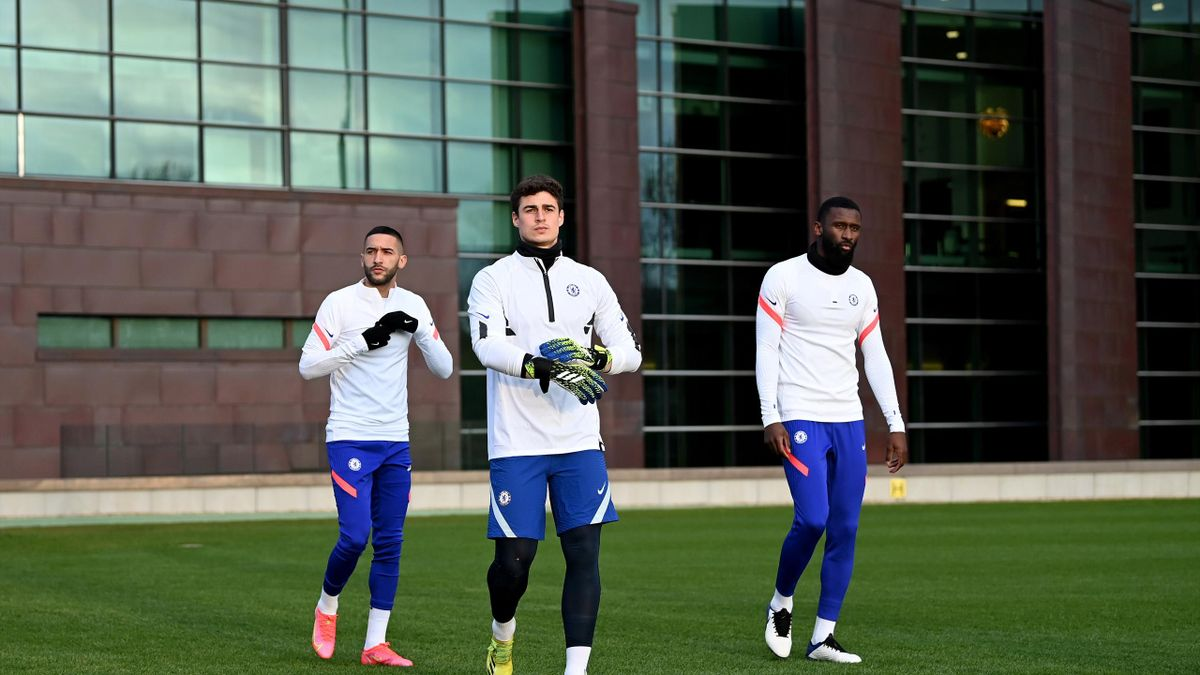 Chelsea players in training