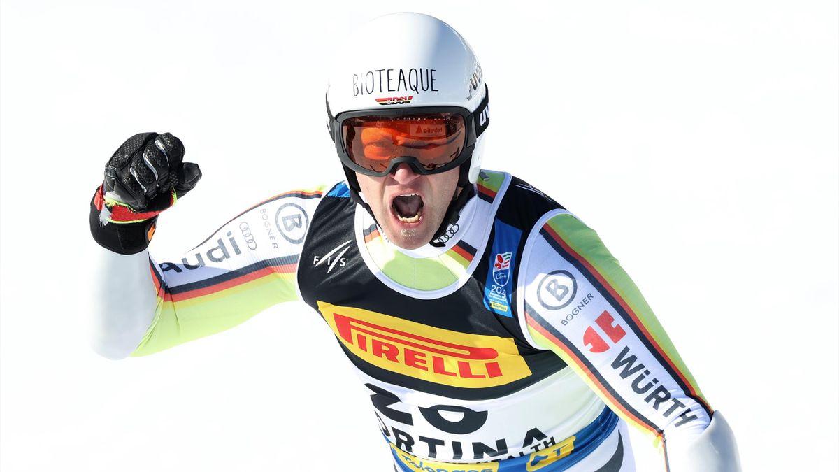 Jubel im Super-G: Romed Baumann fuhr zur Silbermedaille