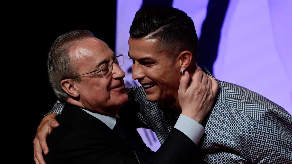 Florentino Perez e Cristiano Ronaldo