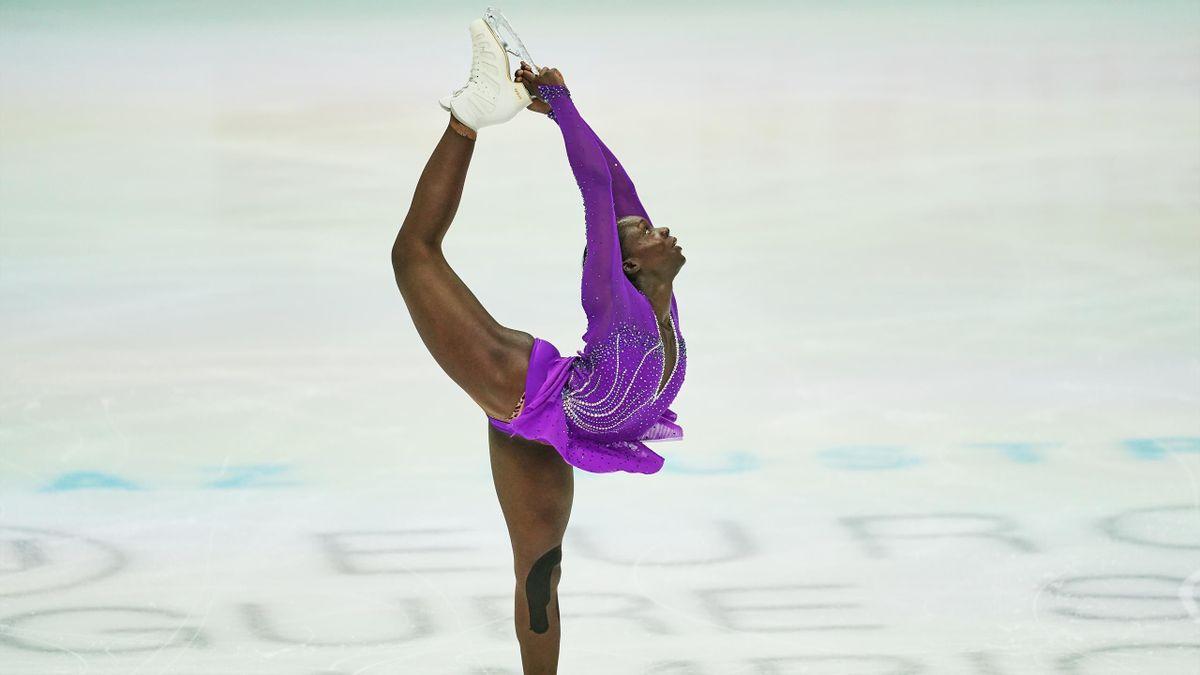 Maé-Bérénice Méité lors des Championnats d'Europe 2020