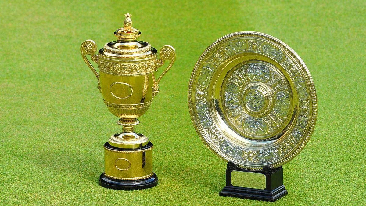 Die Siegerpokale von Wimbledon